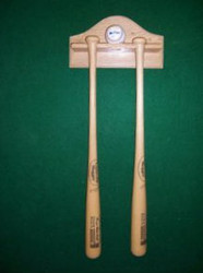 BASEBALL BAT AND BALL DISPLAY, display holds 2 bats and one ball  AA 302