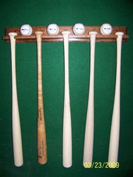 BASEBALL BAT AND BALL DISPLAY, 4 Ball, 5 Bat Display  AA 405