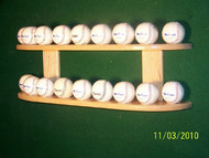 BASEBALL DISPLAY, 18 Ball Wall Mount Display   WBC 218