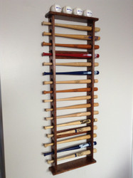 MINI BAT DISPLAY RACKS, 16 MINI BAT WALL DISPLAY
