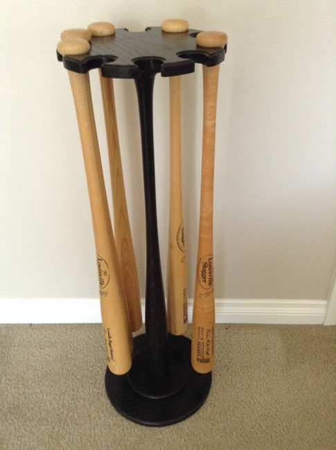 Pedestal 10 Baseball Bat Minus Wood Ball Top  Floor Display Racks Jackson,  MI