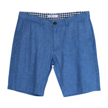 Men's Regular Fit Cotton and Linen Blend Shorts