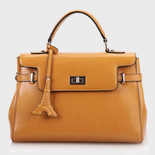 Women's Genuine Leather Shoulder Bag Yellow