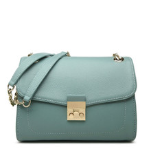 Women's Blue Leather Shoulder Bag Cross Body Bag