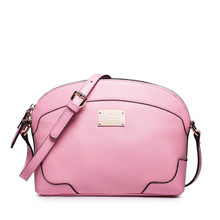 Women's Leather Shoulder Bag Pink