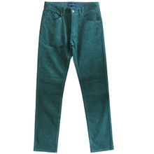 Corduroy Pants Mens Cord Jeans  Slim Fit Green Size 30, 31, 32