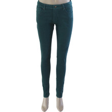 Corduroy Pants for Women Mid Rise Skinny Dark Green