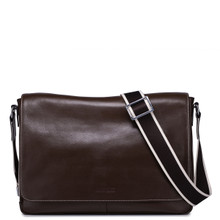 Leather Messenger Bag for Men Brown
