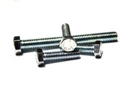 "(5) 1/4""-20x3-1/4"" Fully Threaded Hex Tap Bolts (GRADE 5) - Zinc"