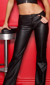 The modern cut of these pants makes them extremely versatile and so very flattering. Sleekly styled, they mold to your curves, while the boot cut slims and elongates the leg. And they look amazing with a spiky heel! Front zipper and snap closure.