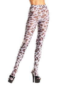 Sheer animal print tights.