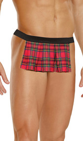 Scottish kilt pouch with elastic waistband.