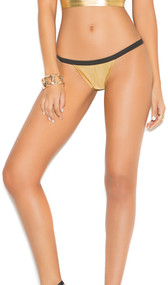 Lamé panty with ruched back and elastic waist.