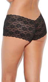 Stretch lace cheeky shorts.