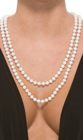Classic faux pearl necklace. Non adjustable. Can be worn as a single strand or doubled up as shown in picture.