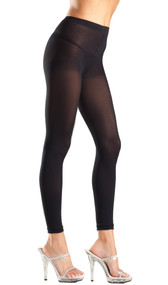 Semi-opaque footless tights.