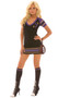 Quarterback Sneak football costume includes dress, knee highs and football purse. Three piece set.