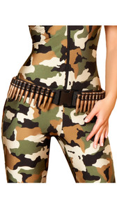 Bullet belt with clasp. Adjustable.