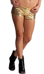 Flashy low rise sequin shorts. Inside is fully lined.
