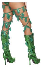 Green leaf thigh wraps.
