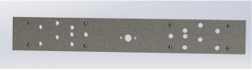 A10 Front Buffer Beam  Mill finish bar 300 x 38 x 12mm (finished item shown)