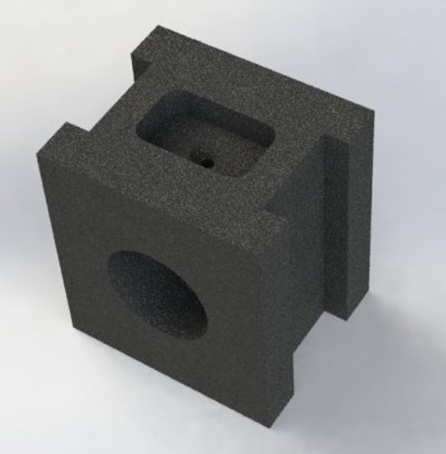 A12 Bogie Axle Block machined and finished shown,  from ingot of cast iron suitable for 4 pieces.