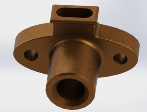 A12 Cylinder Gland sold 'as cast' bronze casting for machining and finishing