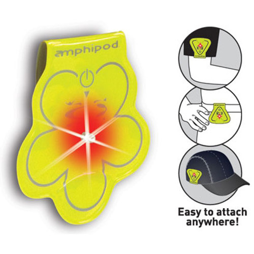 Amphipod Neon Yellow Vizlet LED Clip-On Reflector