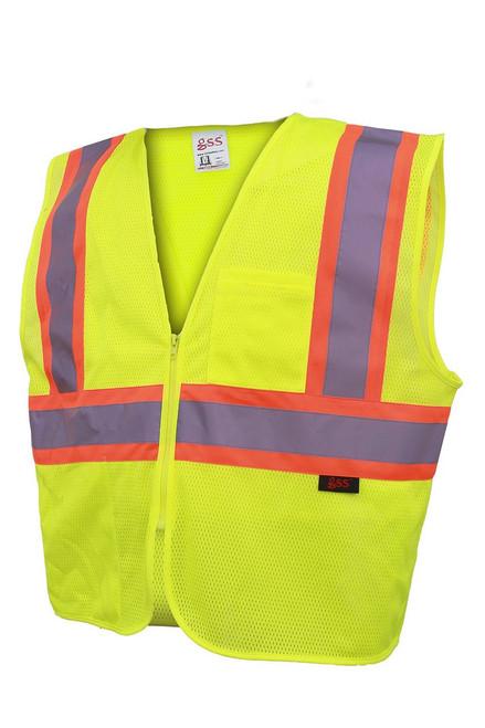 3503/3504 Fire Retardant Mesh 2 Tone Zipper Vest