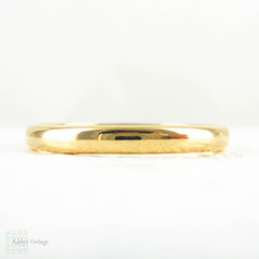22 Carat Gold Wedding Ring. Simple D Profile Shape Yellow Gold Wedding Band, Hallmarked Birmingham 1950s. Size P.5 / 8.