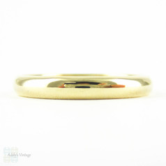 Vintage 9ct Yellow Gold Wedding Ring, Mid 20th Century Classic D Profile Mens or Womens Traditional Wedding Band. Circa 1950s, Size P.5 / 8.