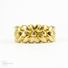 Antique Victorian Keeper Ring, 18ct Yellow Gold  Women's Band. Heavy Substantial Ring with Clear Hallmarks, Circa 1890s.