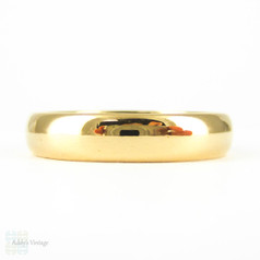Art Deco 22 Carat Gold Men's Wedding Ring. Simple Court Comfort Fit Circa 1930s Wedding Band. Size W / 11.