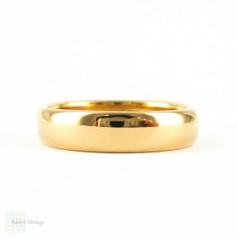 Early 20th Century 22 ct Wide Wedding Ring, Antique Style Ladies Wedding Band. Hallmarked 1910, Size L.5 / 6.