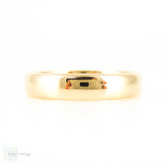 Vintage Men's 18ct Wedding Ring, Medium Width D Profile18k Wedding Band. Size U.5 / 10.25.