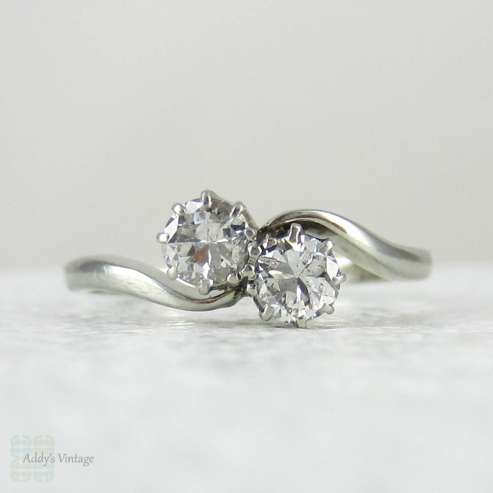 Ebay Two Stone Diamond Rings