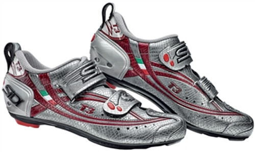 Sidi T3 Ladies Carbon Composite Triathlon Shoe in Snake with Red