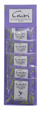 Colibri Anti Moth Mini Drawer Sachet Lavender