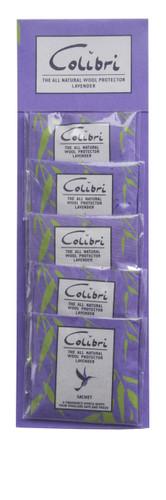 Colibri Anti Moth Mini Drawer Sachet Lavender
