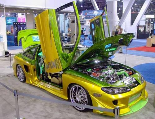 Image 1 & Mitsubishi Eclipse Vertical Lambo Doors Bolt On 90 91 92 93 94 ...