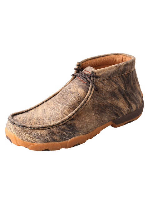 Men's Hyena Brown Lace Up Driving Moc by Twisted X