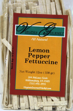Pasta (6 Pack - Vegan) Lemon Pepper Fettuccine - Virginia Gourmet