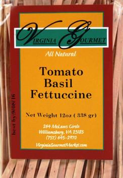 Pasta (6 Pack - Vegan) Tomato Basil Fettuccine - Virginia Gourmet