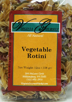 Pasta (6 Pack - Vegan) Vegetable Rotini - Virginia Gourmet