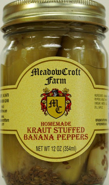 MeadowCroft Farm Kraut Stuffed Banana Peppers