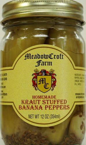 MeadowCroft Farm Kraut Stuffed Banana Peppers