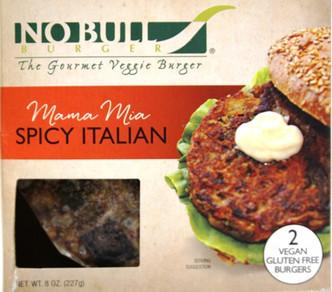 Italian seasoned veggie burger - No Bull