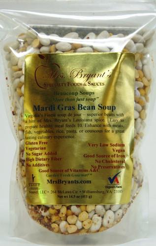 Mardi Gras White Bean Soup Mix - Mrs. Bryant's