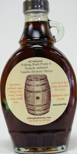 Brandy Infused Vanilla Hickory Syrup (8 fl.oz.) - Wildwood's Falling Bark Farm