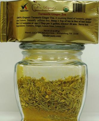 Turmeric Ginger Tea - Mrs. Bryant's